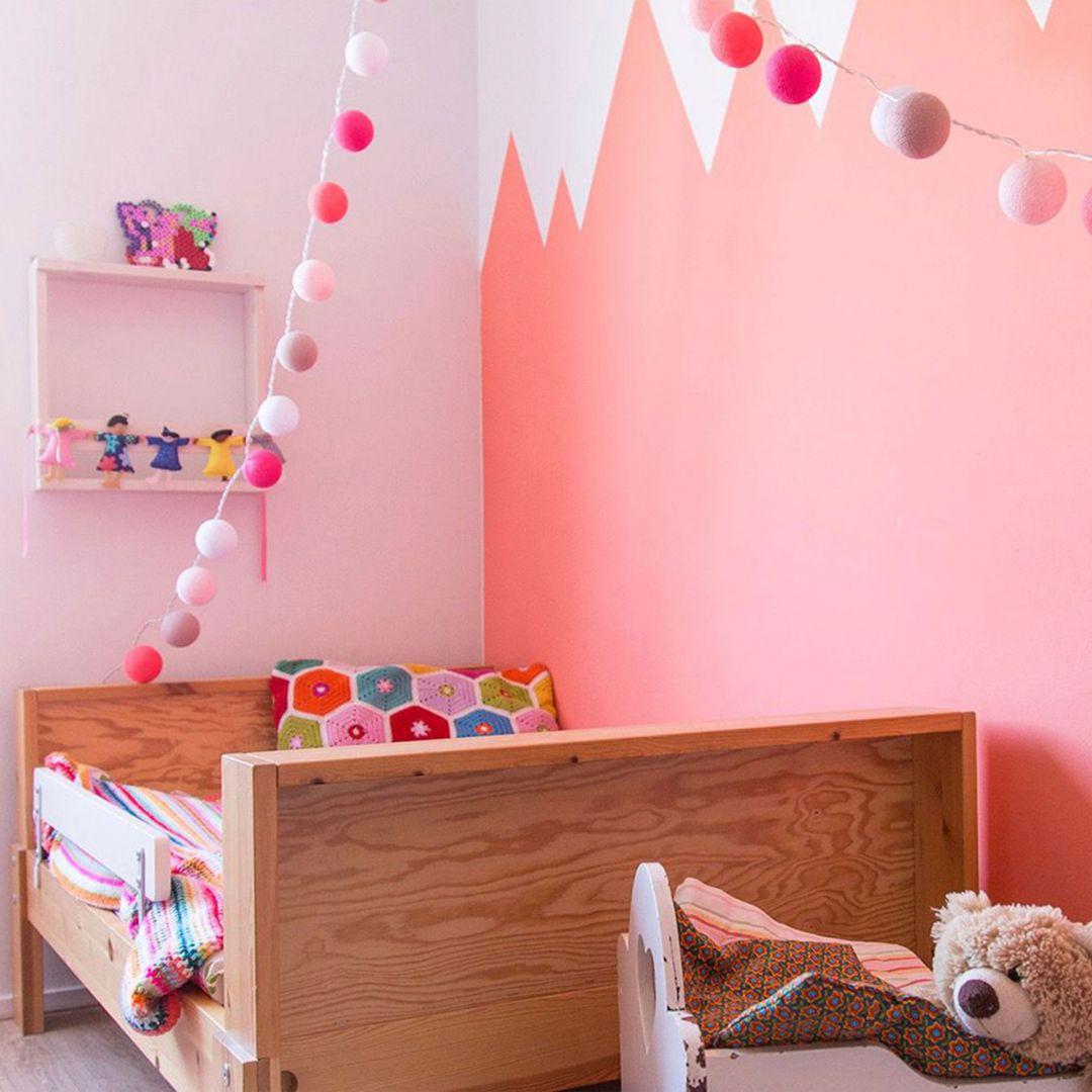 Cotton Ball Lights - LED Lichterkette - Pink 20-tlg.