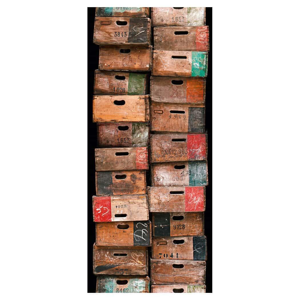livingwalls selbstklebendes panel 2 braun wall. Black Bedroom Furniture Sets. Home Design Ideas
