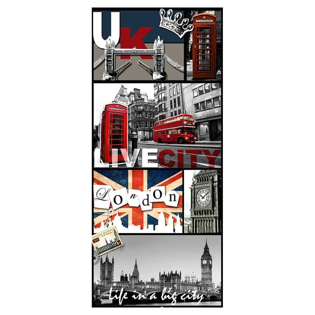 Livingwalls selbstklebendes Pop.up Panel 2 bunt, grau, rot