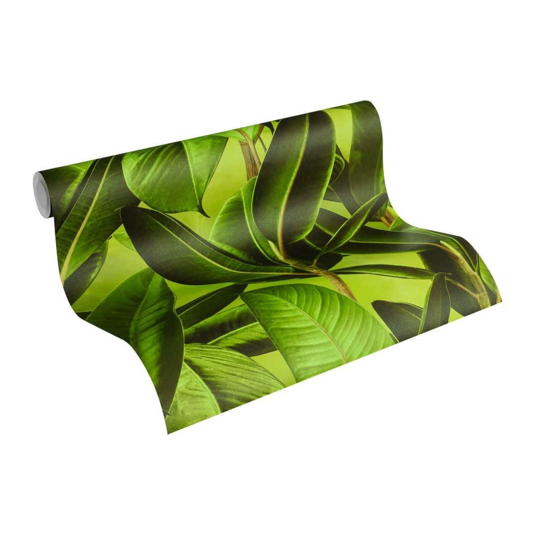 Livingwalls Tapete Neue Bude 2.0 in Dschungel Optik grün, braun