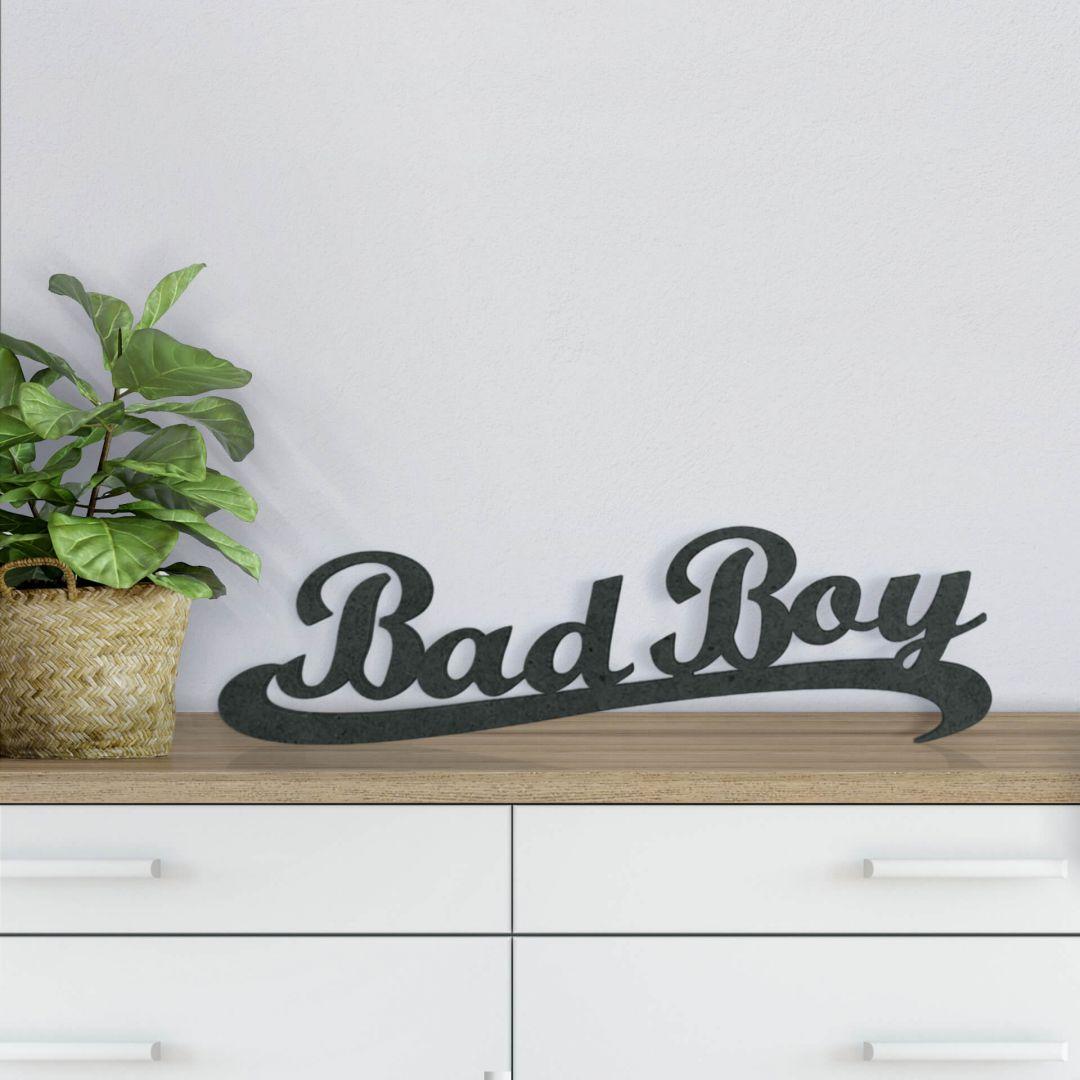 MDF-Holzbuchstaben Bad Boy