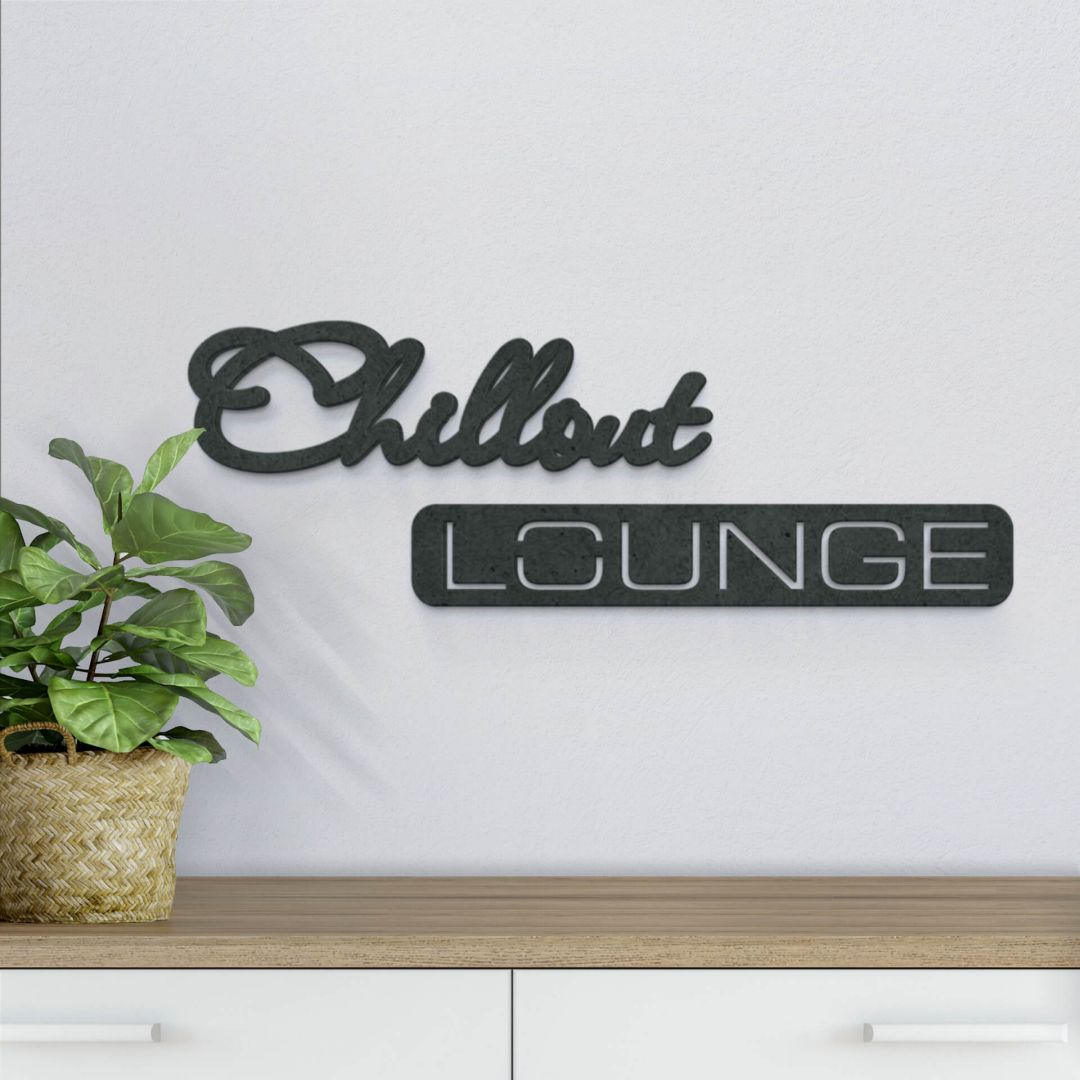 MDF-Holzbuchstaben Chillout Lounge