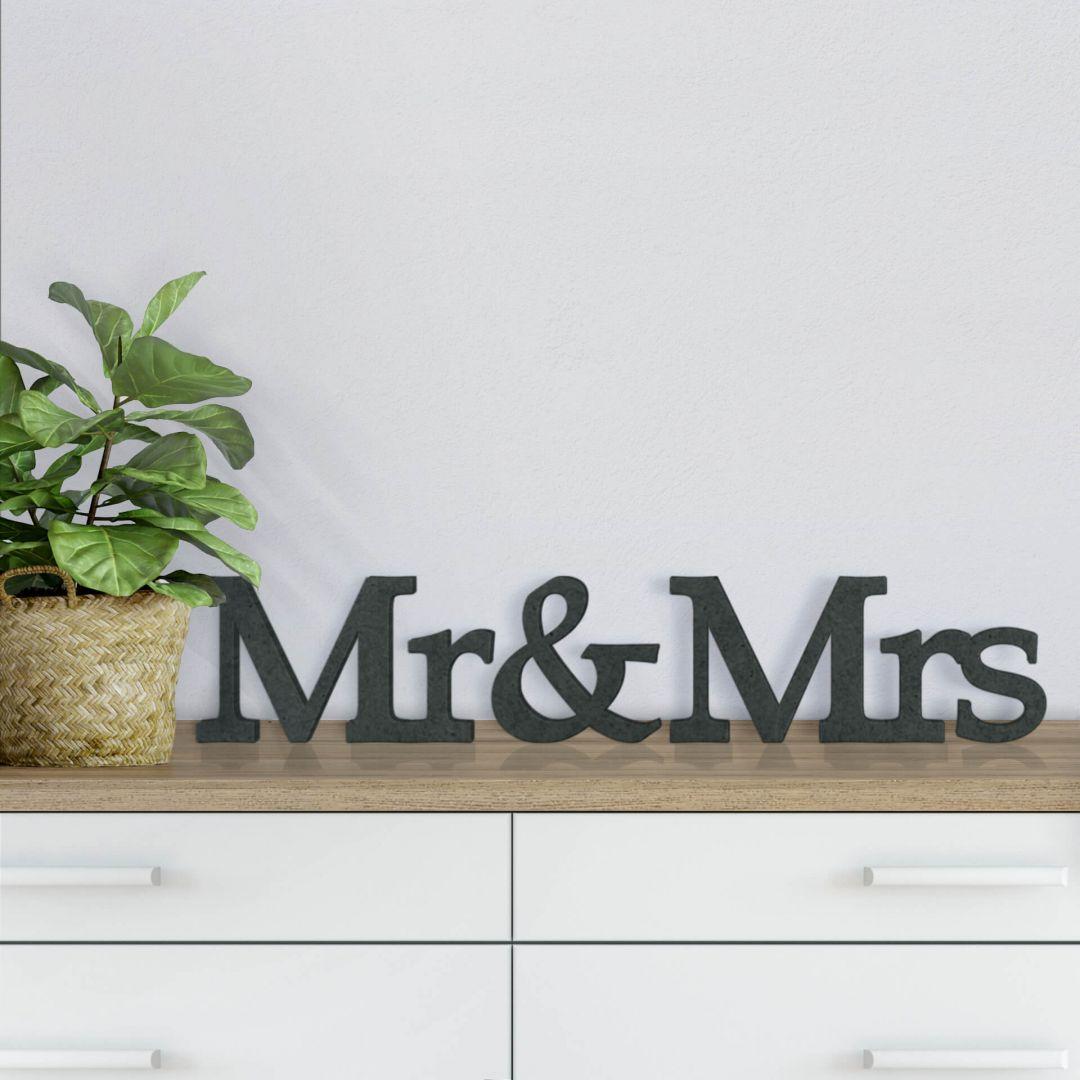 mdf holzbuchstaben mr mrs serife deko mit 3d buchstaben wall. Black Bedroom Furniture Sets. Home Design Ideas
