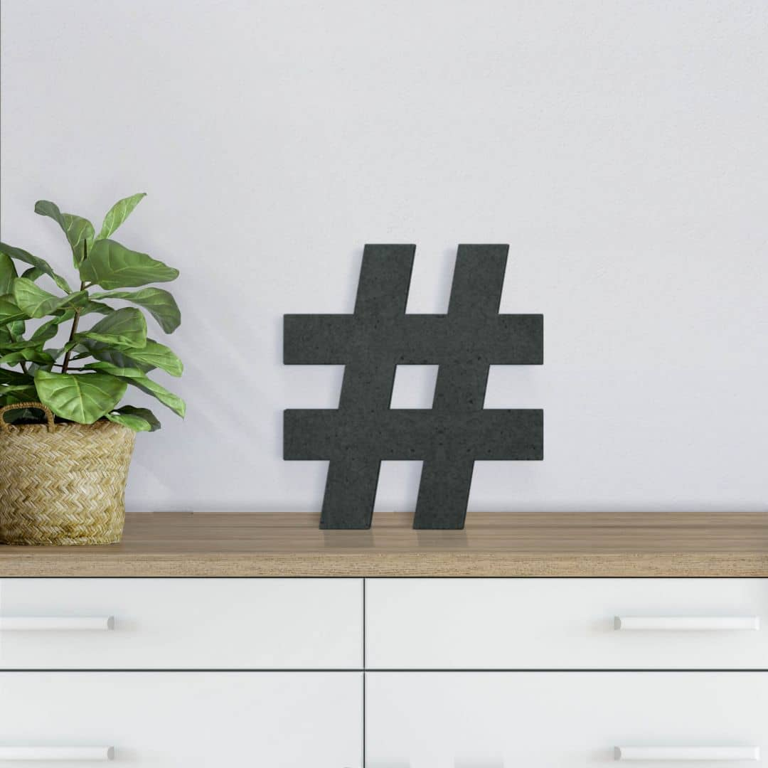 MDF-Letters Hashtag