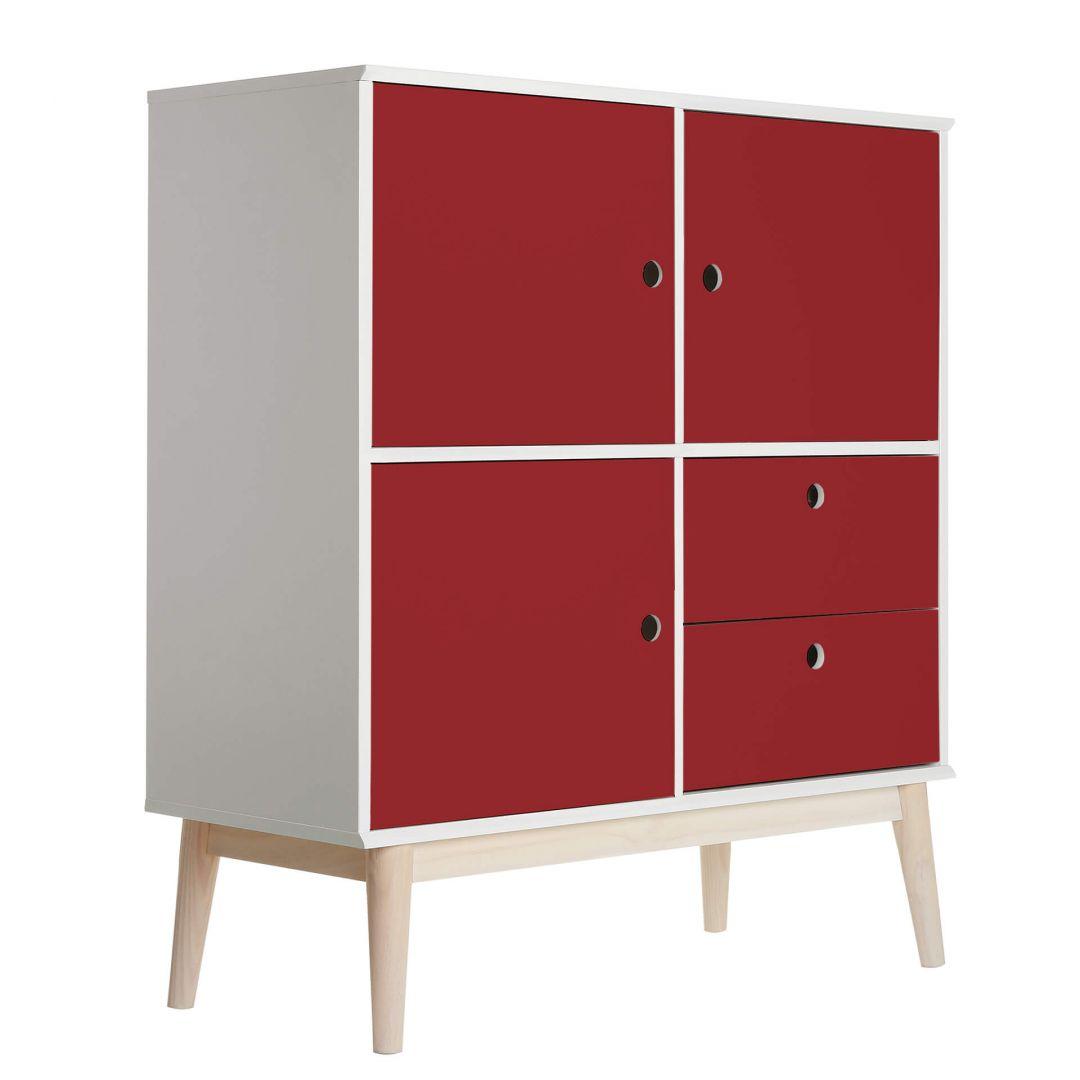 Sticker meuble uni rouge fonc wall - Stickers deco meuble ...