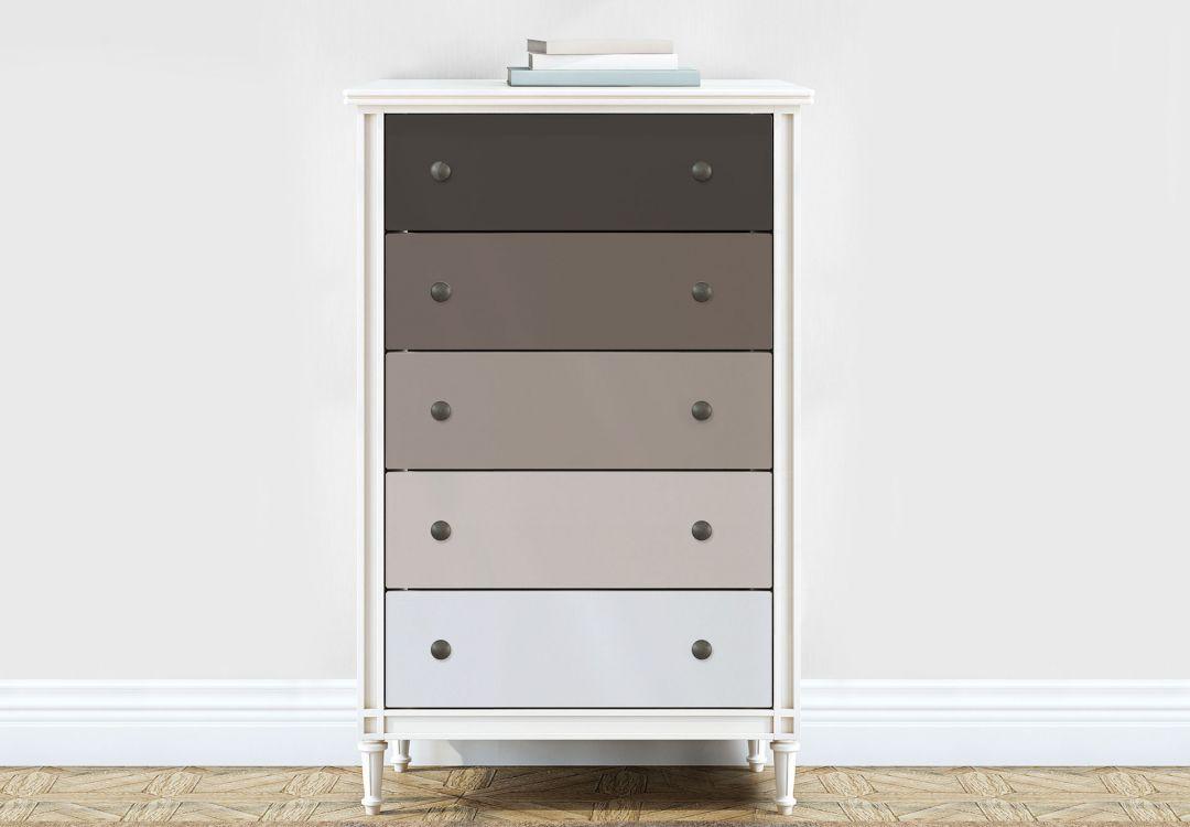 Möbelfolie, Dekofolie - abwischbar - Farbverlauf Braun - 5er Set