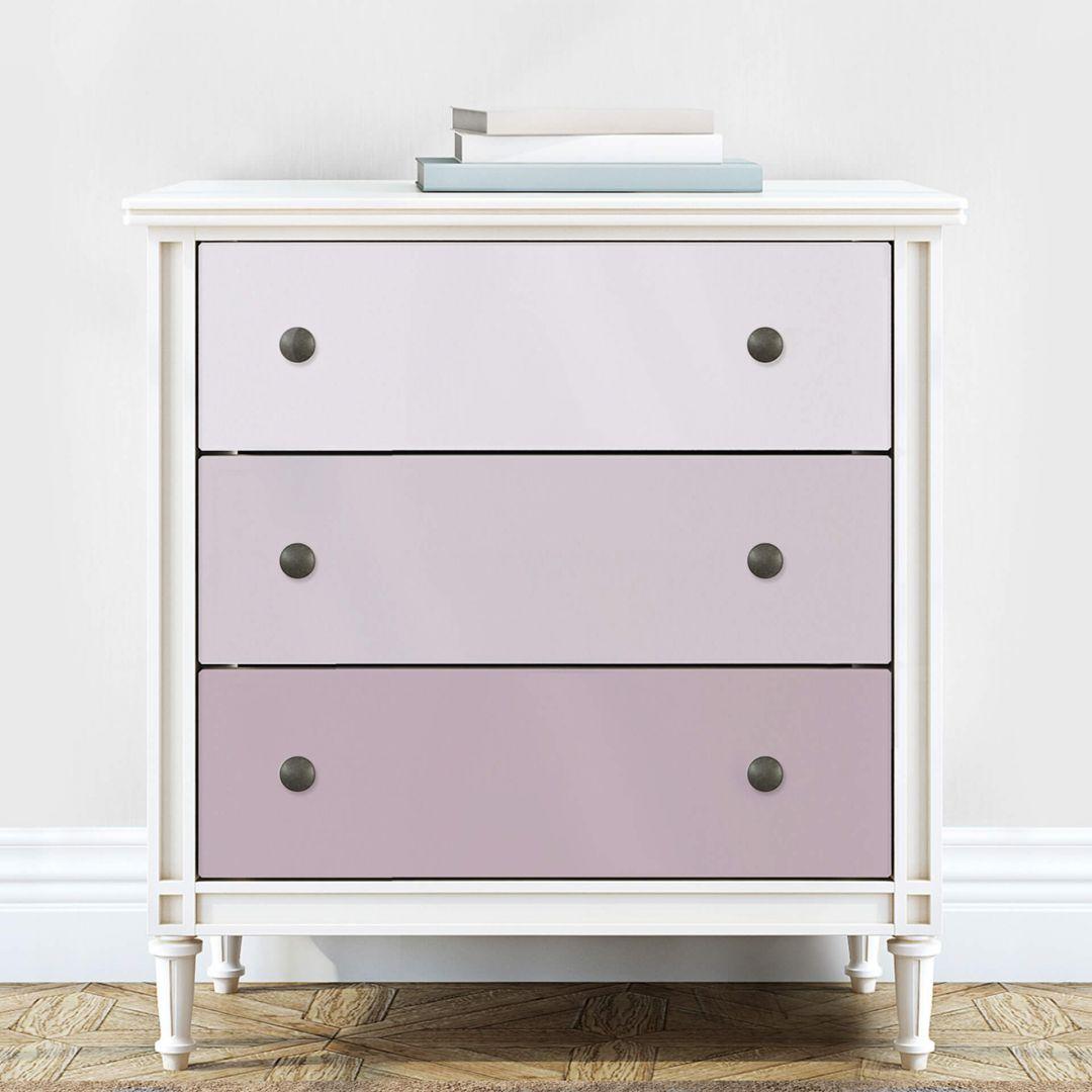 Möbelfolie, Dekofolie - abwischbar - Farbverlauf Mauve - 3er Set