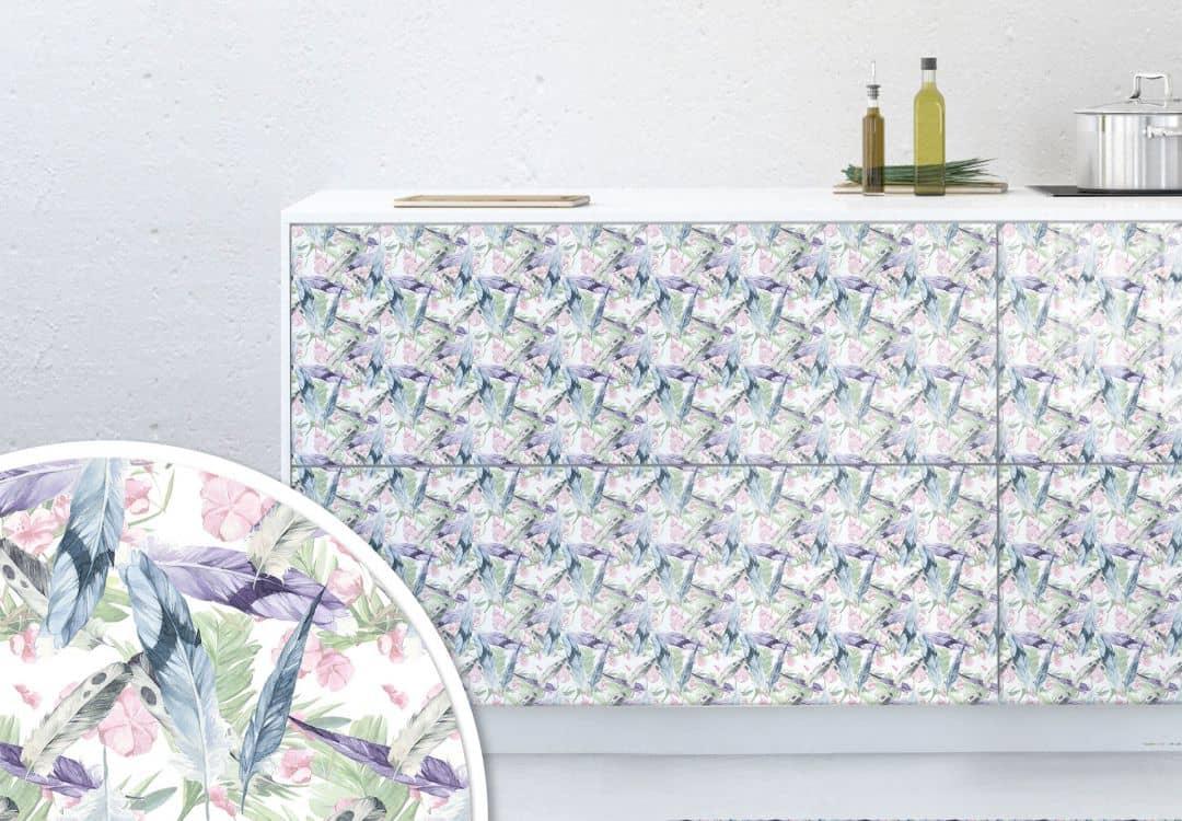 Möbelfolie - Muster Federleicht