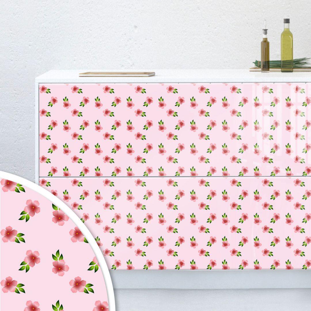 M belfolie muster blumen rosa wall for Mobelfolie muster