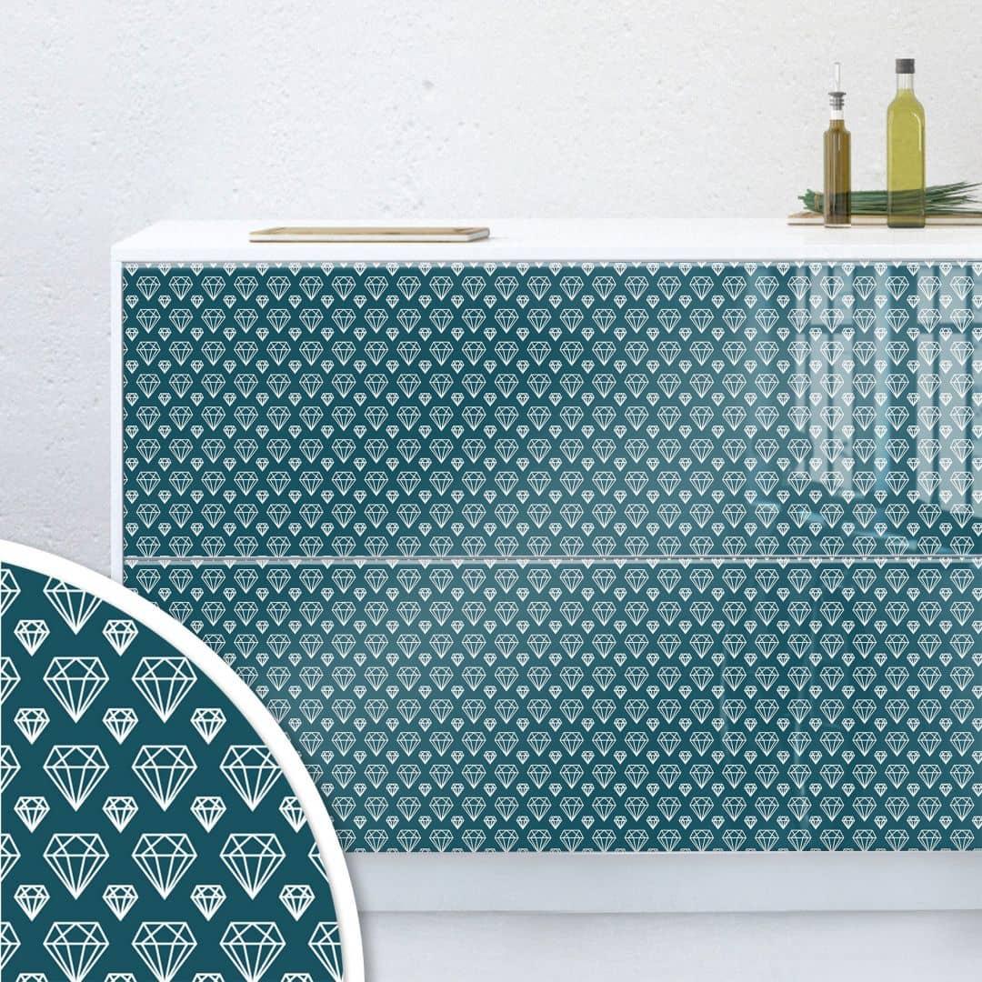 M belfolie muster diamond wall for Mobelfolie muster