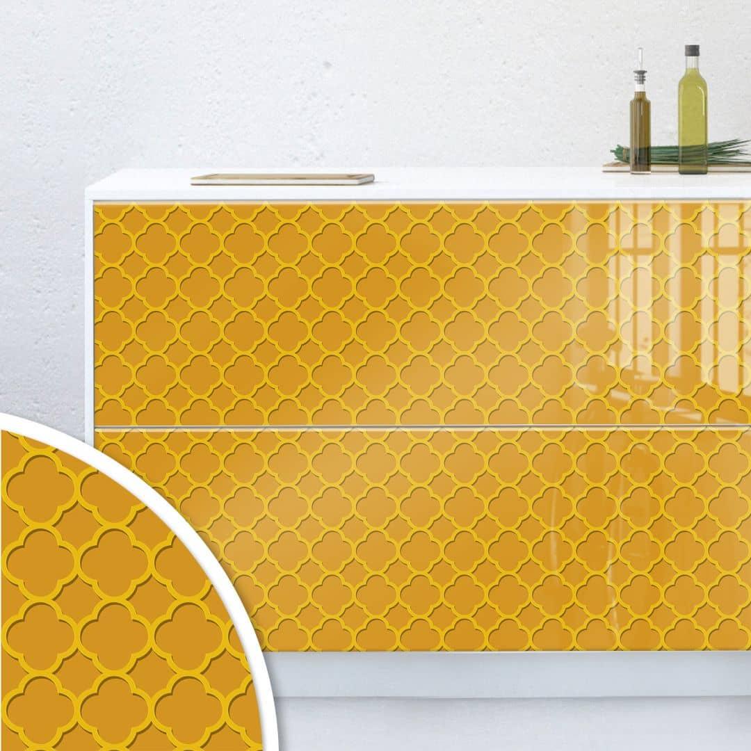 Möbelfolie, Dekofolie - abwischbar - Oriental Gold