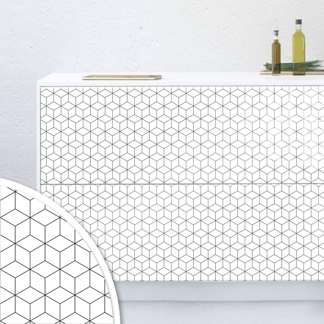 Pellicola per mobili geometrie for Pellicole adesive per mobili