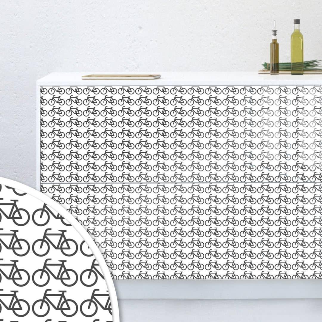 Möbelfolie, Dekofolie - abwischbar - Bikes