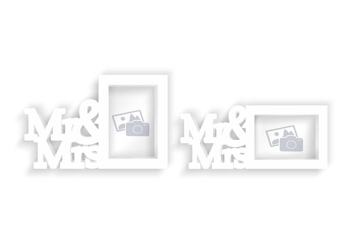 3D Bilderrahmen - Mr & Mrs
