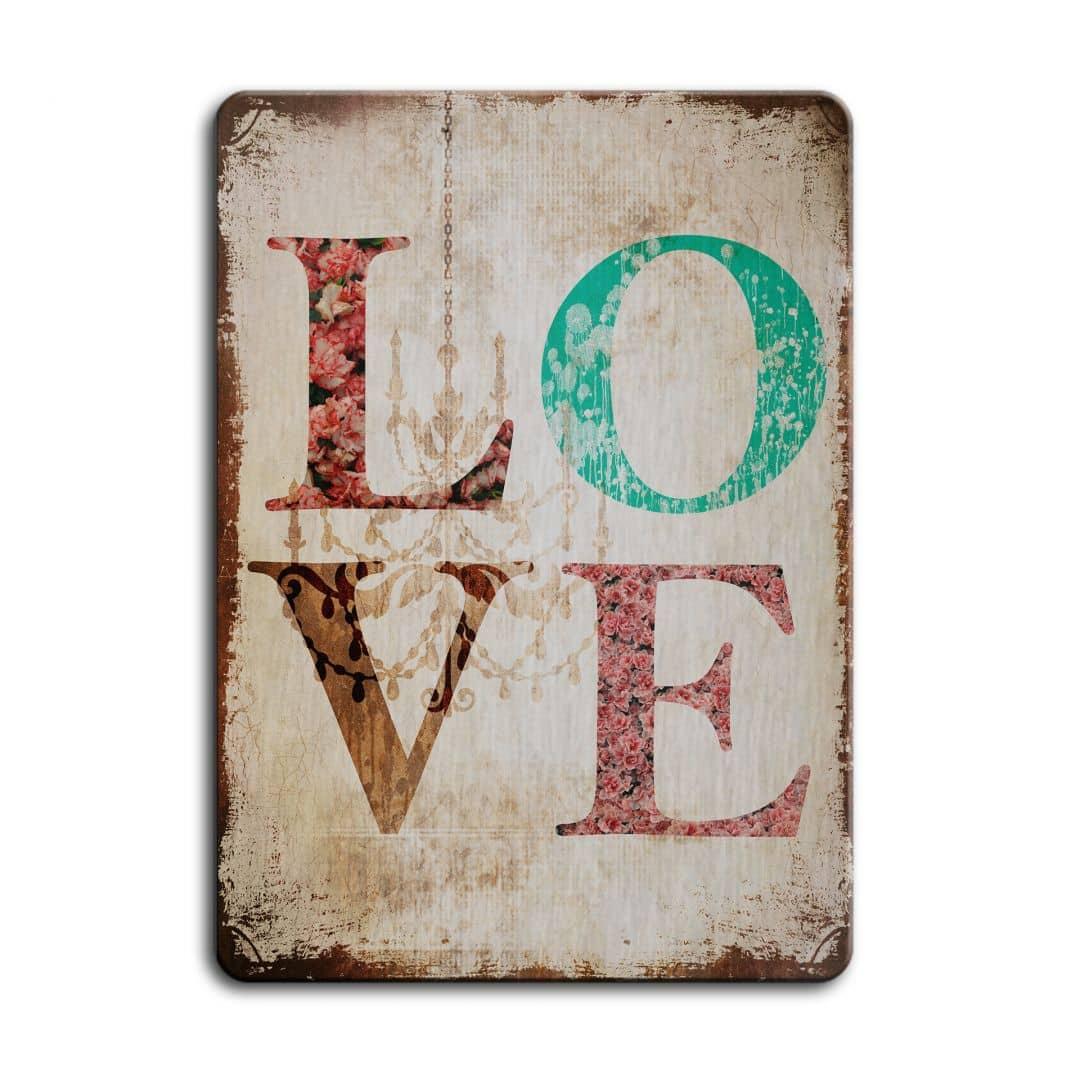 Magnettafel Love - Vintage