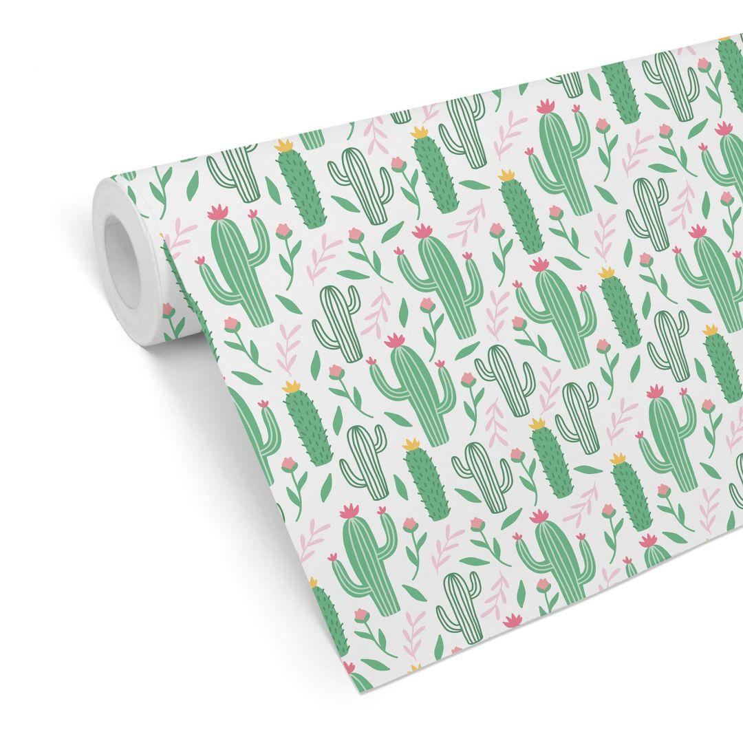 Patterned Wallpaper – Cactus Love