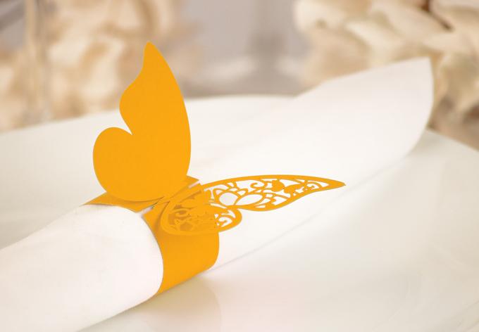 3D Papier-Serviettenring Schmetterling (4er Set)