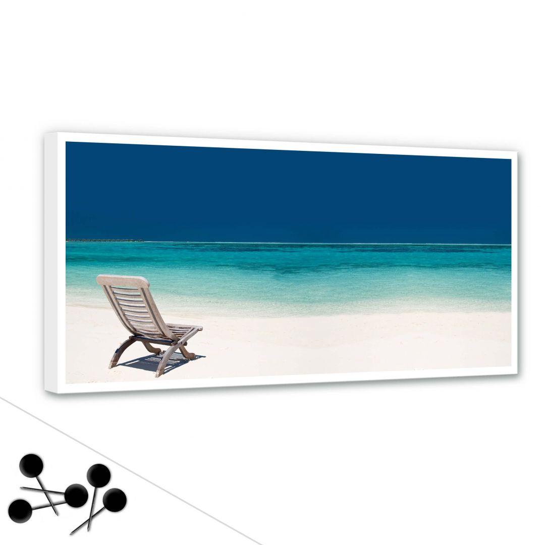 Tableau d 39 affichage plage des mers wall for Meuble 70x30