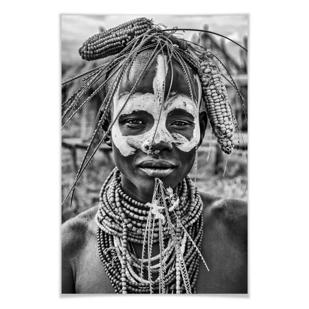Poster Kuesta - portrait of an Ethiopian tribe