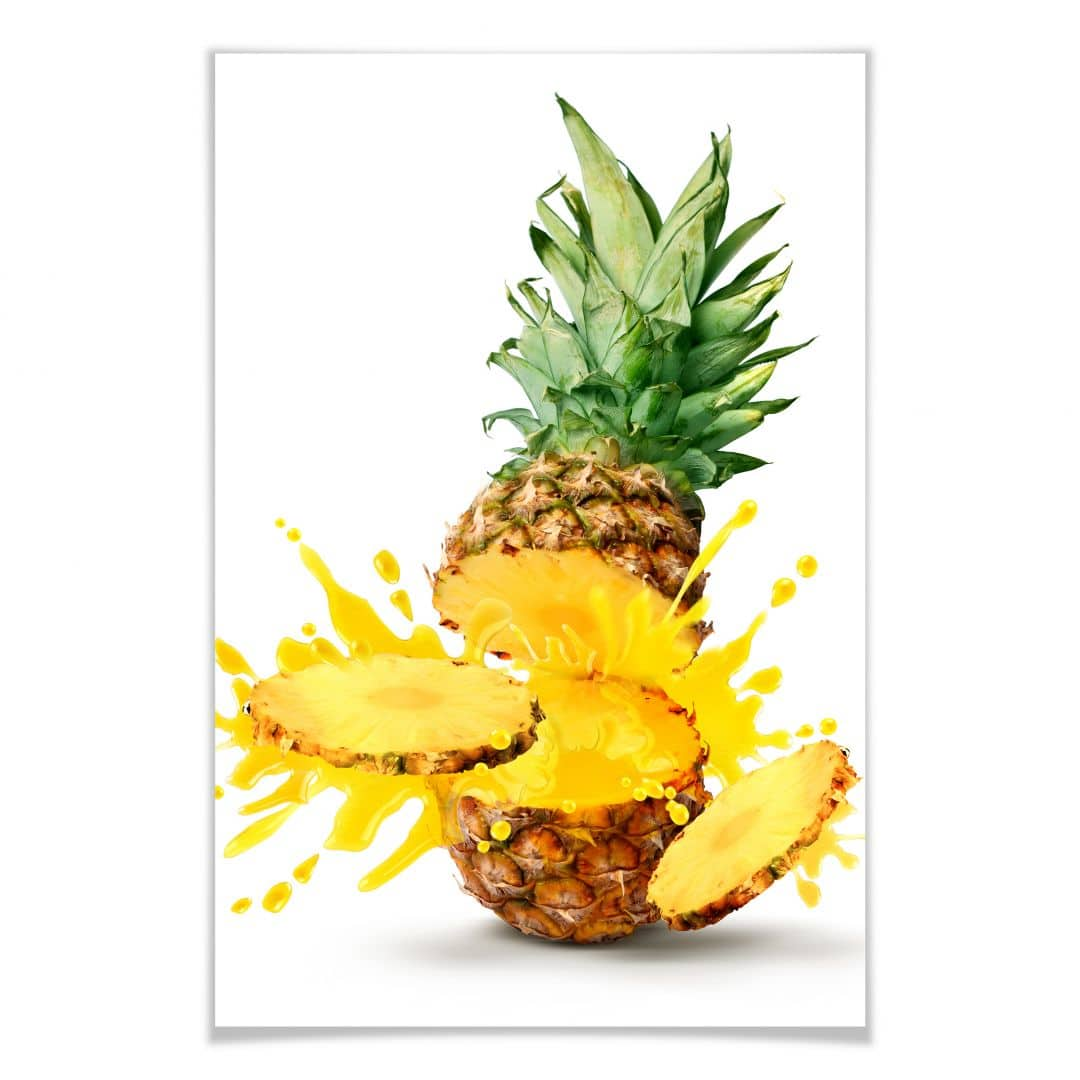 Poster Splashing Pineapple
