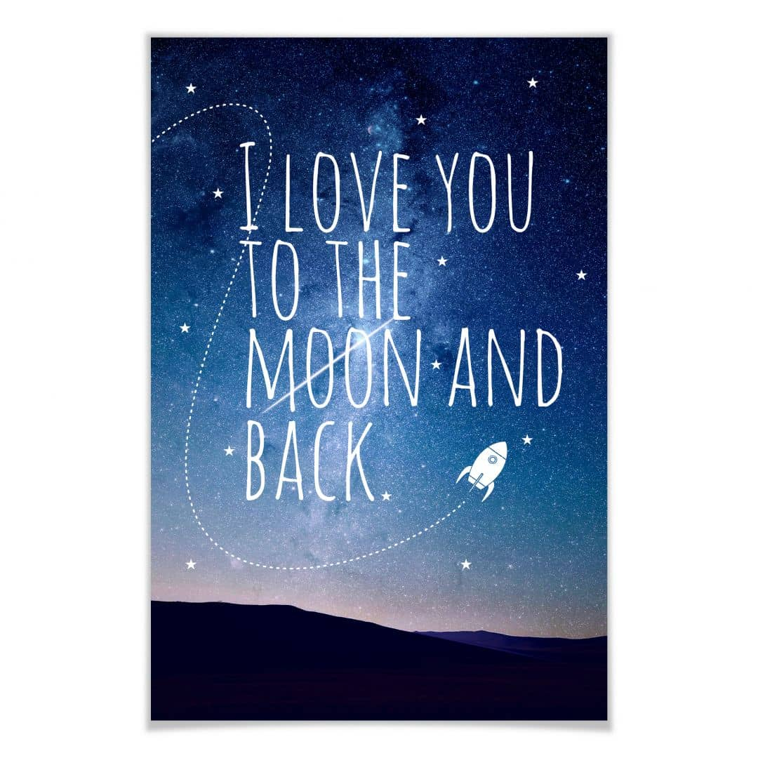 Poster - I love you to the Moon and back