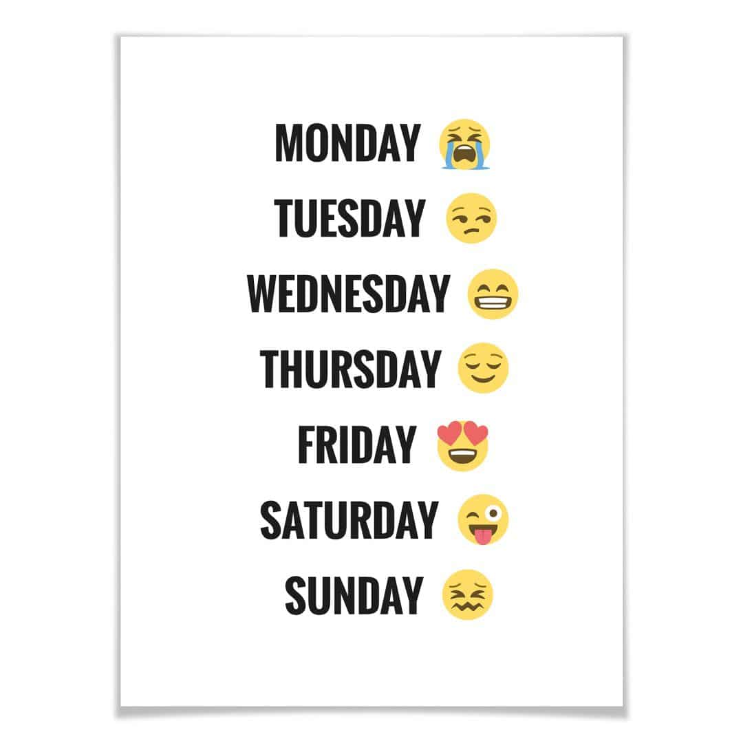 Poster - Emojione - Day of the Week
