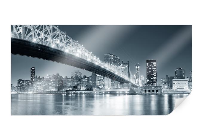 Poster new york di notte 03 60x30 cm for Piastrelle 200x100