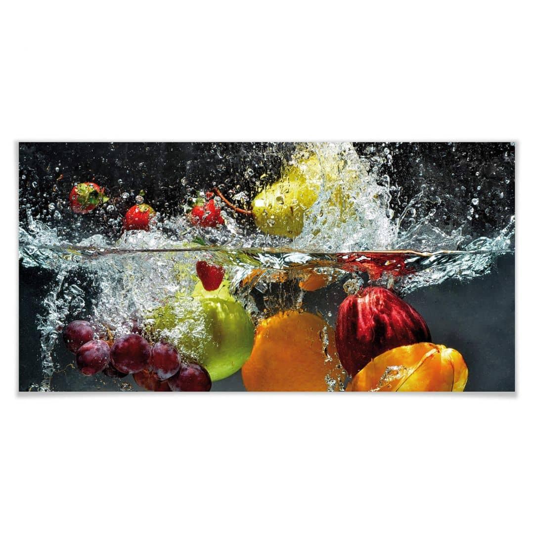 Poster Frutta Rinfrescante Panoramica 150x75 Cm Wall