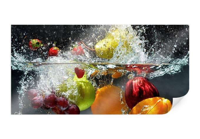 Poster frutta rinfrescante panoramica for Piastrelle 200x100