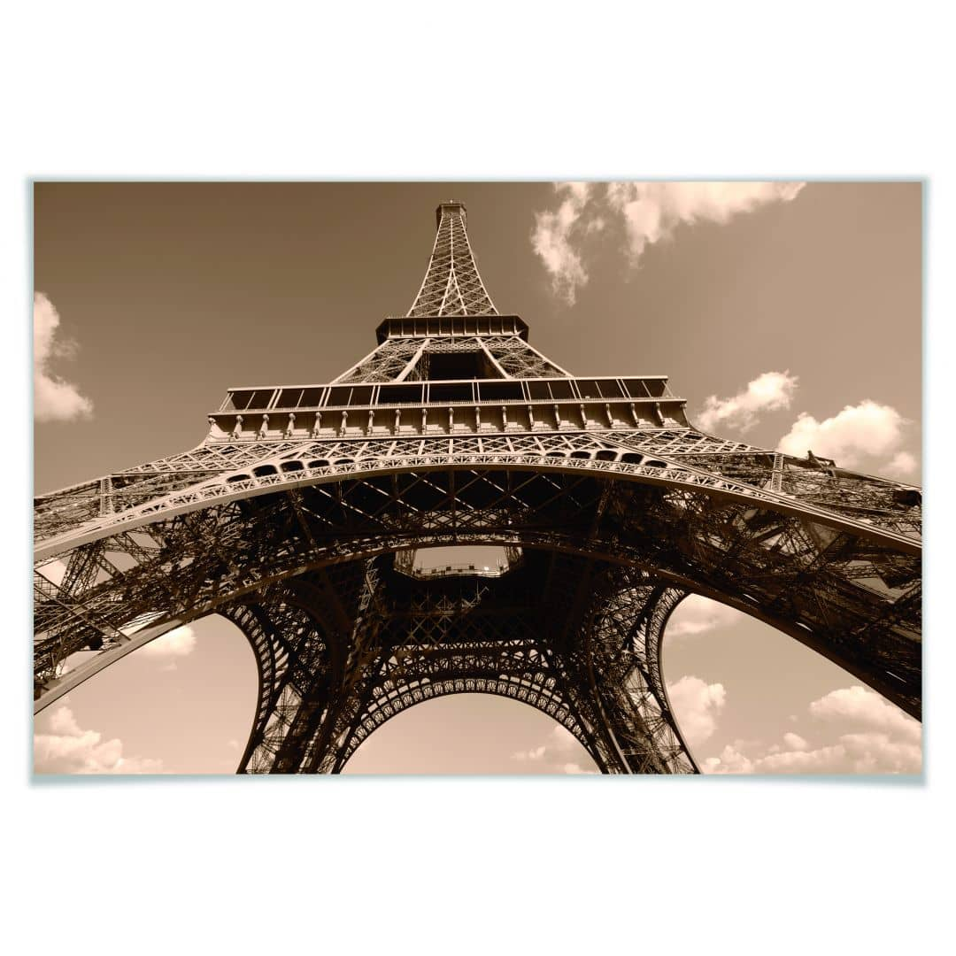 Poster Eiffel Tower Perspective Wall Art Com
