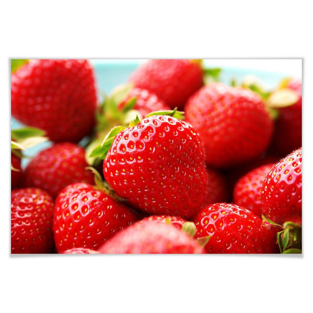Poster Erdbeeren aus dem Garten