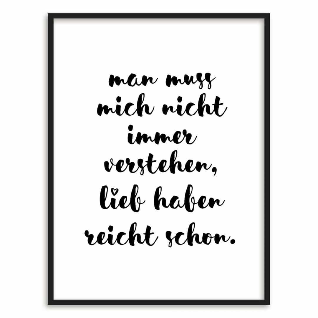 Gerahmtes Poster Man muss mich nicht immer verstehen | wall-art.de