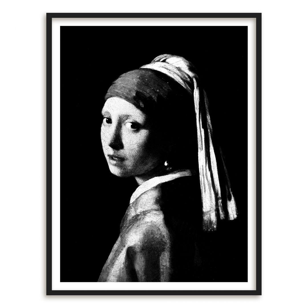 Poster mit Bilderrahmen Vermeer - Das Mädchen mit dem Perlenohrring