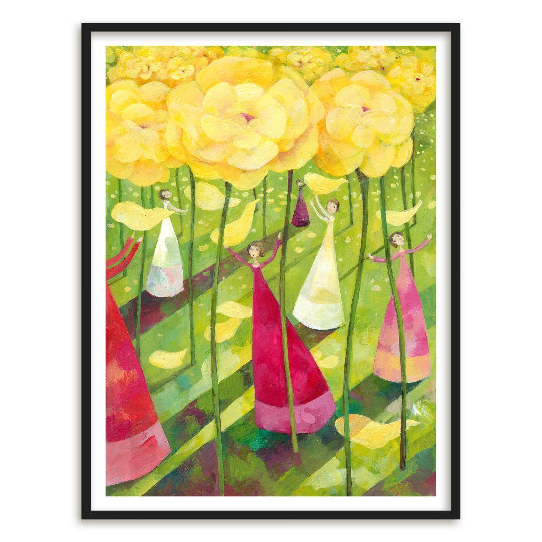 Poster mit Bilderrahmen Blanz - Blumenwiese
