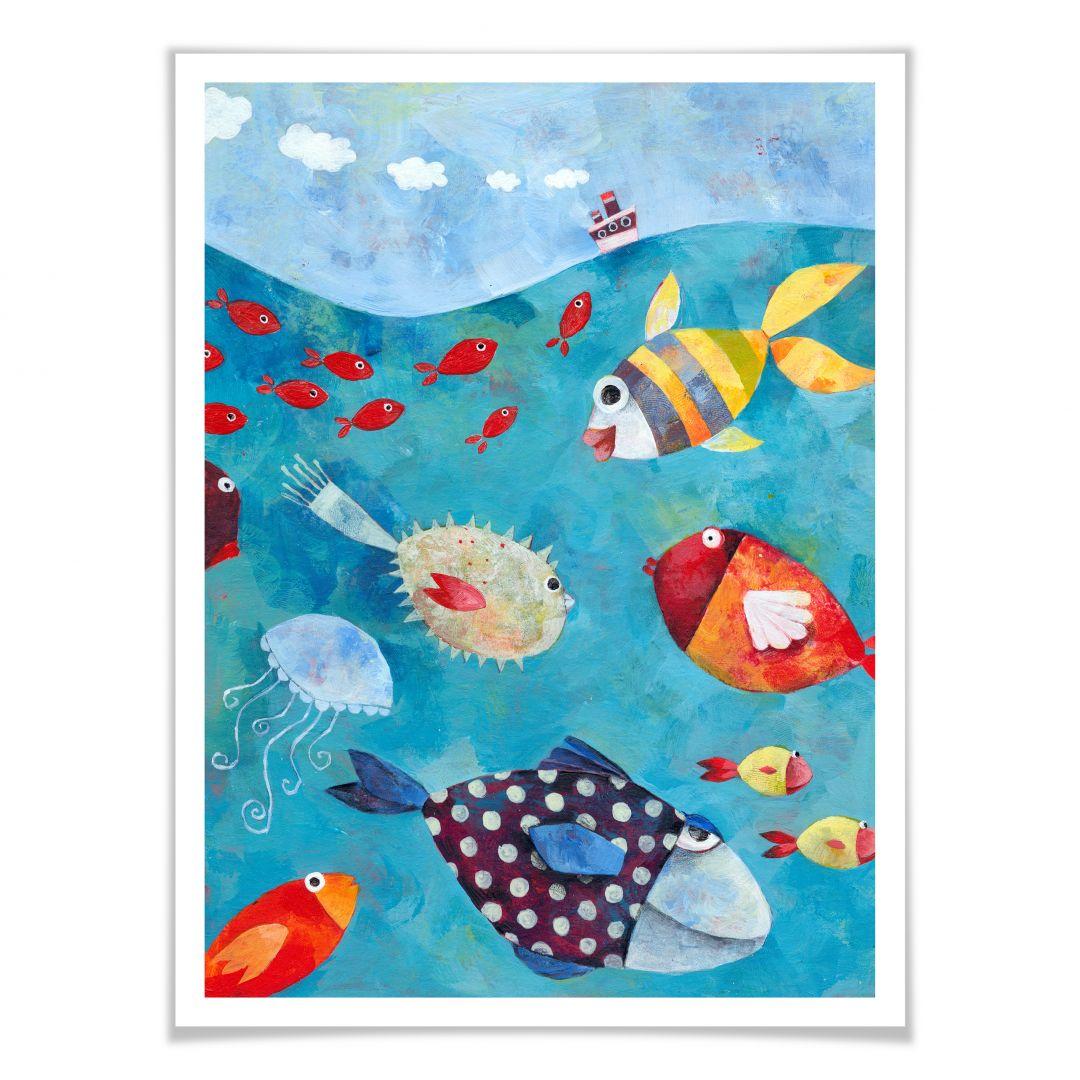 Poster Blanz - Fische im Meer