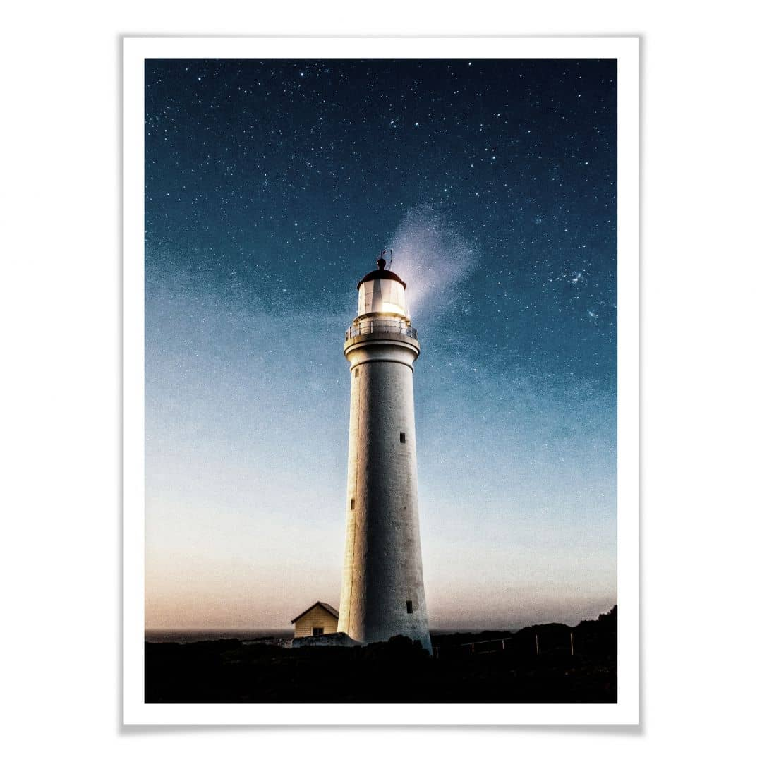Poster Lighthouse in the dark