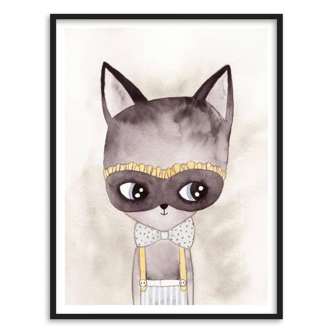 Poster mit Bilderrahmen Carnival Kitty