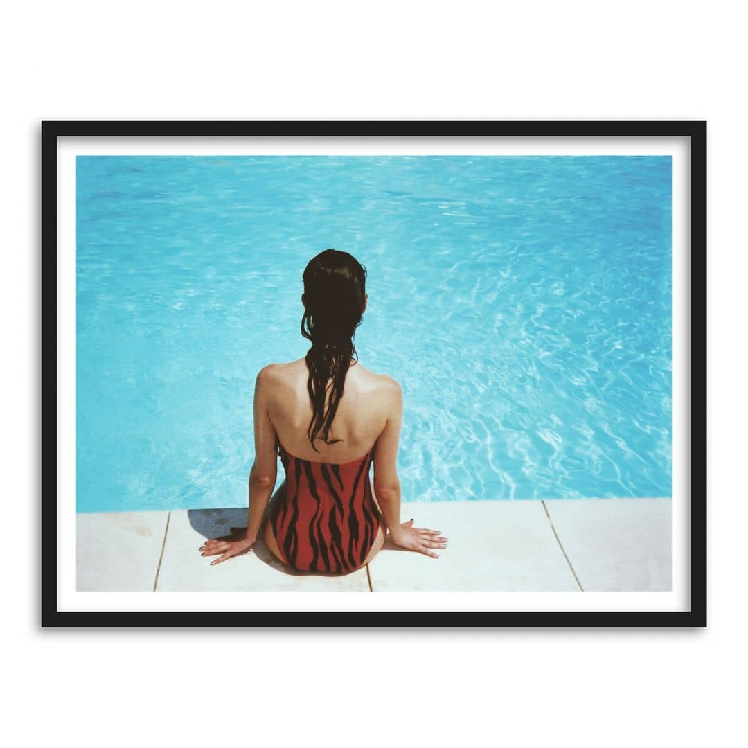 Poster mit Bilderrahmen Swimming Pool