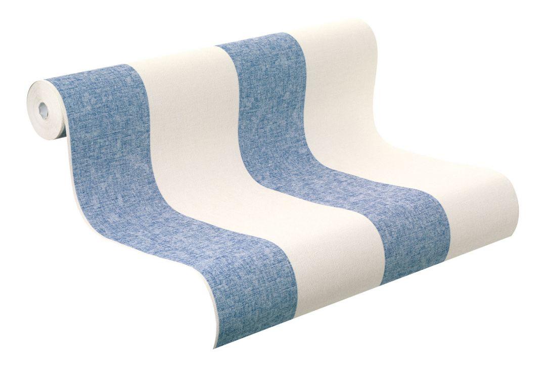 rasch vliestapete florentine streifen 448719 blau wall. Black Bedroom Furniture Sets. Home Design Ideas