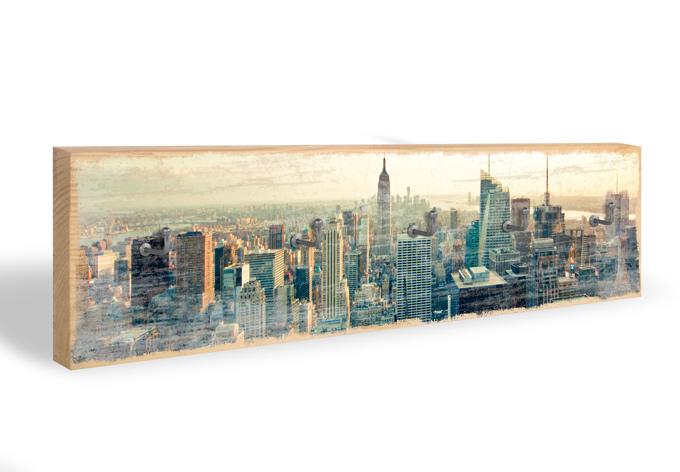 Schlüsselbrett Skyline von New York City + 5 Haken