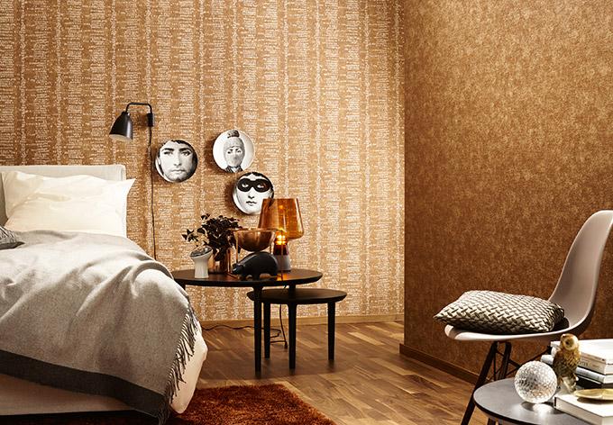 sch ner wohnen vliestapete braun wall. Black Bedroom Furniture Sets. Home Design Ideas