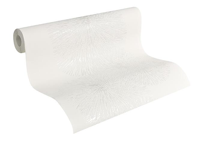 Sch ner wohnen carta da parati in tnt colore bianco for Carta parati argento