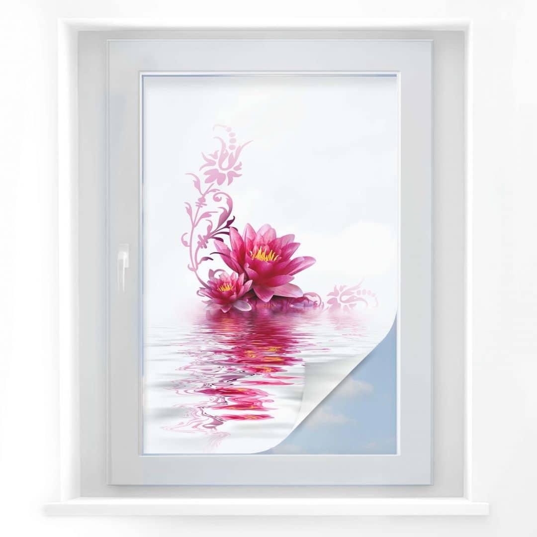 film occultant fleurs wall. Black Bedroom Furniture Sets. Home Design Ideas