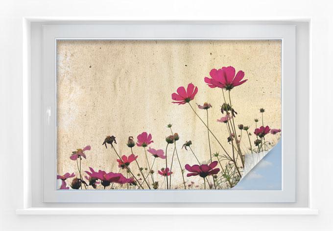 Pellicola adesiva per vetri prato fiorito 45x30 cm for Pellicola adesiva per vetri ikea