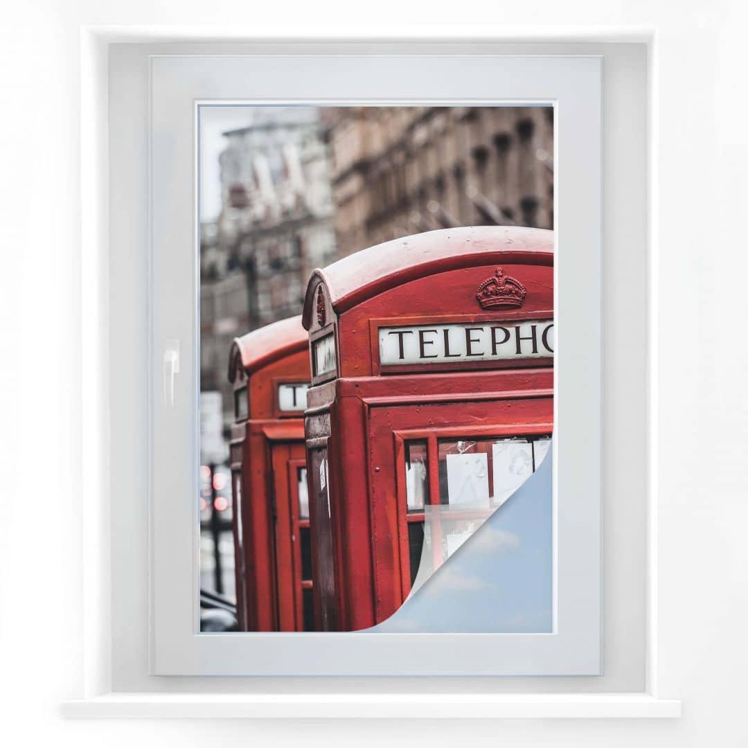 Pellicola adesiva per vetri cabina telefonica inglese for Pellicola adesiva per vetri ikea