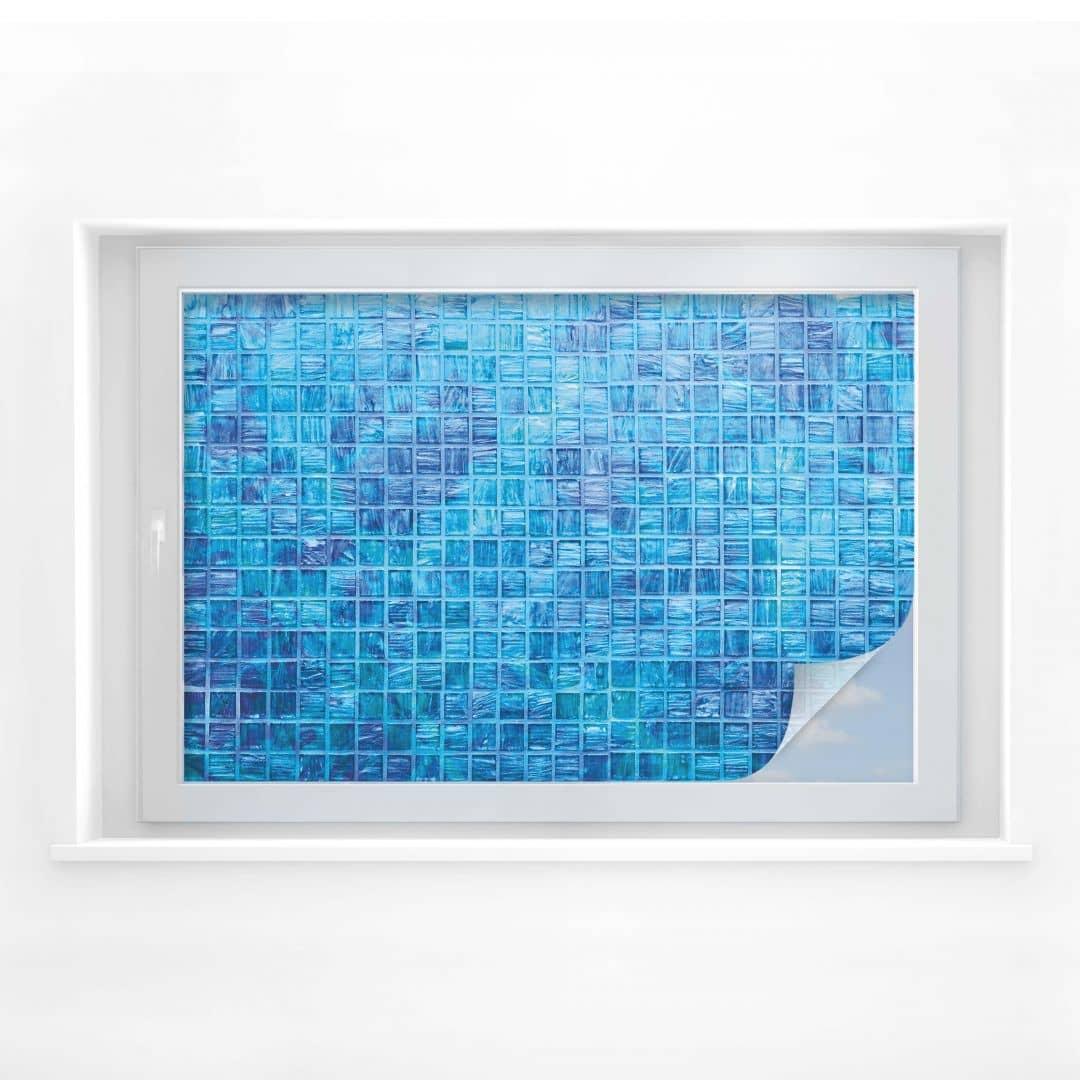 Pellicola adesiva per vetri mosaico di vetro wall for Pellicola adesiva per vetri ikea