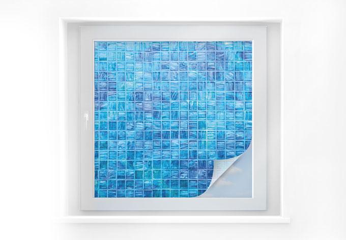 Pellicola adesiva per vetri mosaico di vetro quadrato for Pellicola adesiva per vetri ikea