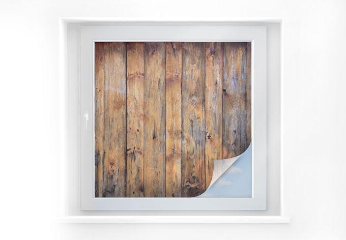 Pellicola adesiva per vetri pannello effetto legno 01 for Pellicola adesiva per vetri ikea