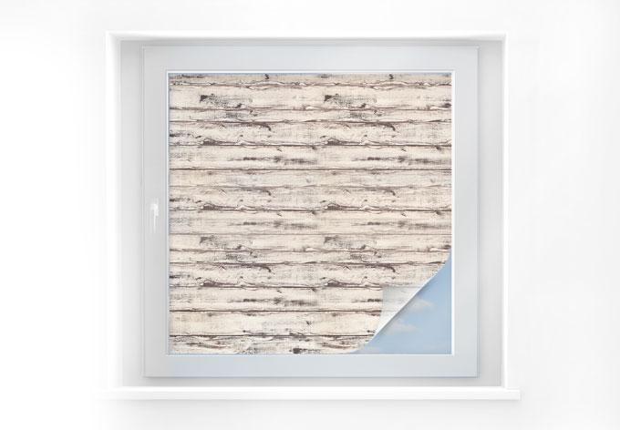 Sichtschutzfolie Holzpaneele 05 - quadratisch