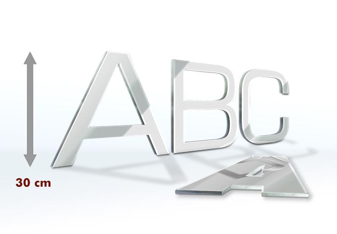 Lettere decorative a specchio 30 cm for Specchio intero
